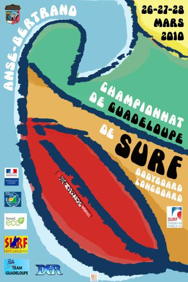 Piaf pour le Championnat de Guadeloupe de Surf 2010