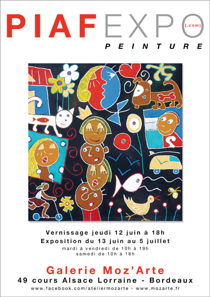 Piaf en expo à la galerie Moz'Arte à Bordeaux
