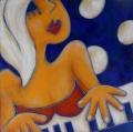la pianiste - 40x40cm