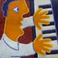 le pianiste - 40x40cm