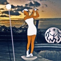 la golfeuse - 125x55cm