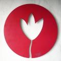 la Tulipe - transparence sur mur - diam 63cm