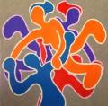 les danseurs - 50x50cm